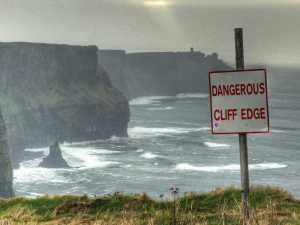 Dangerous Cliff Edge