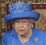 The Queen in her EU flag hat
