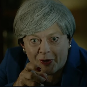 Theresa May as Gollum played by Andy Serkis